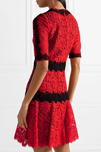 Dolce & Gabbana Minikleid aus Spitze aus einer Baumwollmischung
