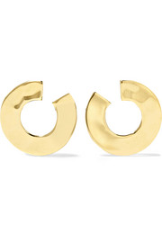 Senso Luna hammered 18-karat gold earrings