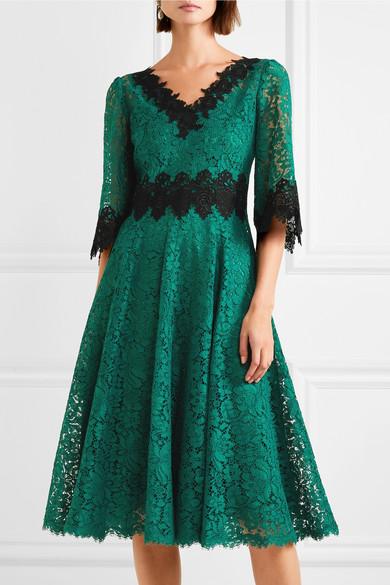 Dolce & Gabbana Midikleid aus Spitze