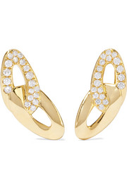 Cherish Bond 18-karat gold diamond earrings