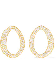Cherish 18-karat gold diamond earrings