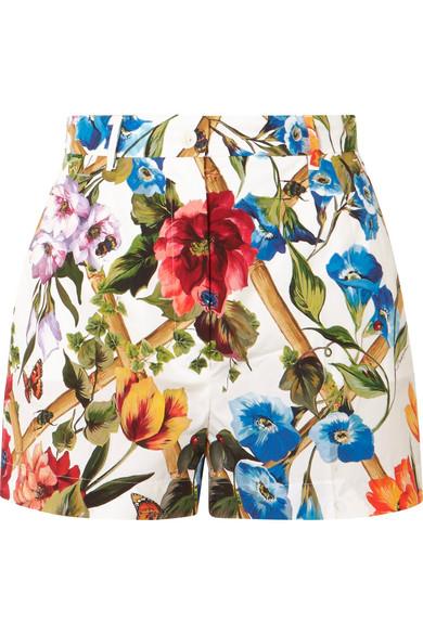 Dolce & Gabbana Floral bedruckte Shorts aus Baumwollpopeline