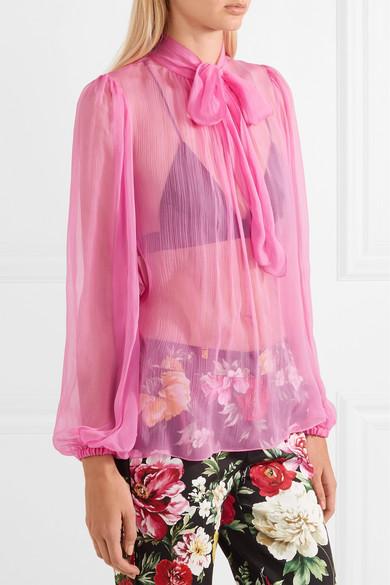 Dolce & Gabbana Schluppenbluse aus Seidenkrepon Billig Erstaunlicher Preis Steckdose Suchen CJVQfbrmf