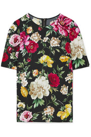 Dolce & Gabbana Floral-print crepe top