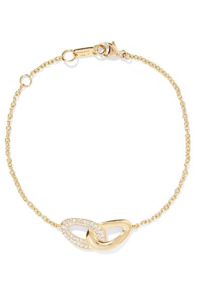 Ippolita Cherish Bond 18-karat Gold Diamond Bracelet yJbvKHte