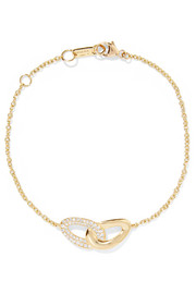 Cherish Bond 18-karat gold diamond bracelet