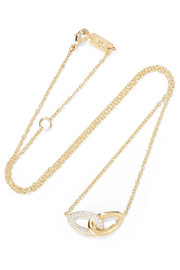 Ippolita Cherish Bond 18-karat gold diamond necklace