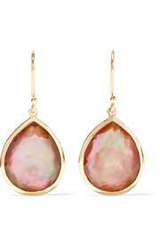 Rock Candy 18-karat gold shell doublet earrings