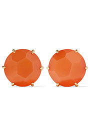 Rock Candy 18-karat gold carnelian earrings