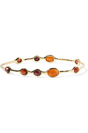 Rock Candy 18-karat gold multi-stone cuff