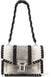 Proenza Schouler Hava whipstitched python-effect leather shoulder bag