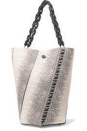 Proenza Schouler Hex medium paneled lizard-effect leather tote