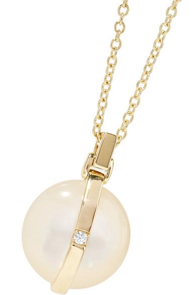 Ippolita Senso 18-karat Gold, Mother-of-pearl And Diamond Necklace