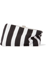 Proenza Schouler Frame asymmetric striped canvas clutch
