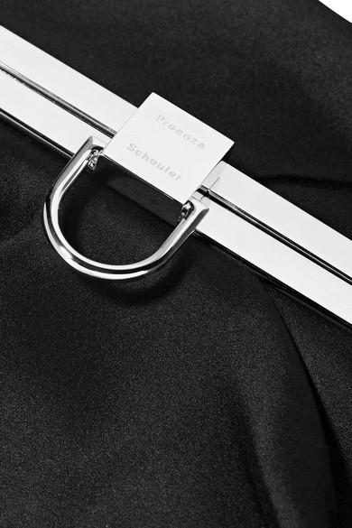 Proenza Schouler Frame asymmetrische Clutch aus Satin Billig Kaufen Authentisch Rabatt-Outlet-Store Billig Verkauf Offiziell ta8v4dXqN