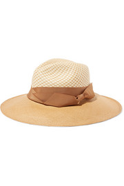 Two-tone toquilla straw Panama hat