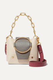 Delila mini color-block leather shoulder bag
