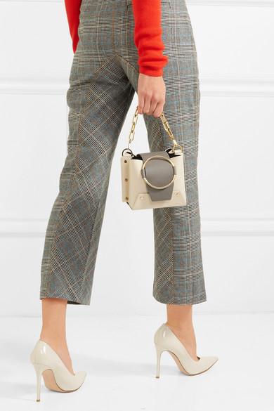 717c31d42f Yuzefi. Delila mini color-block leather shoulder bag
