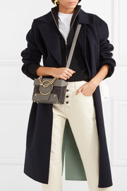 Asher small textured-leather and suede shoulder bag