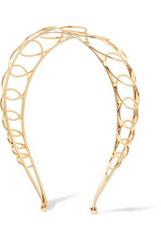 Infinity gold-plated headband