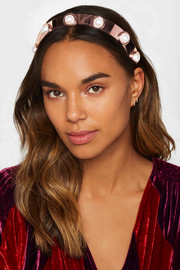 Oculous rose gold-plated faux pearl headband