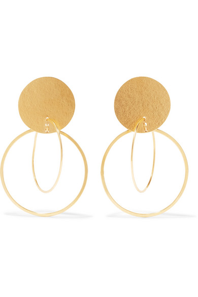 Annie Costello Brown - Halo Gold-tone Earrings