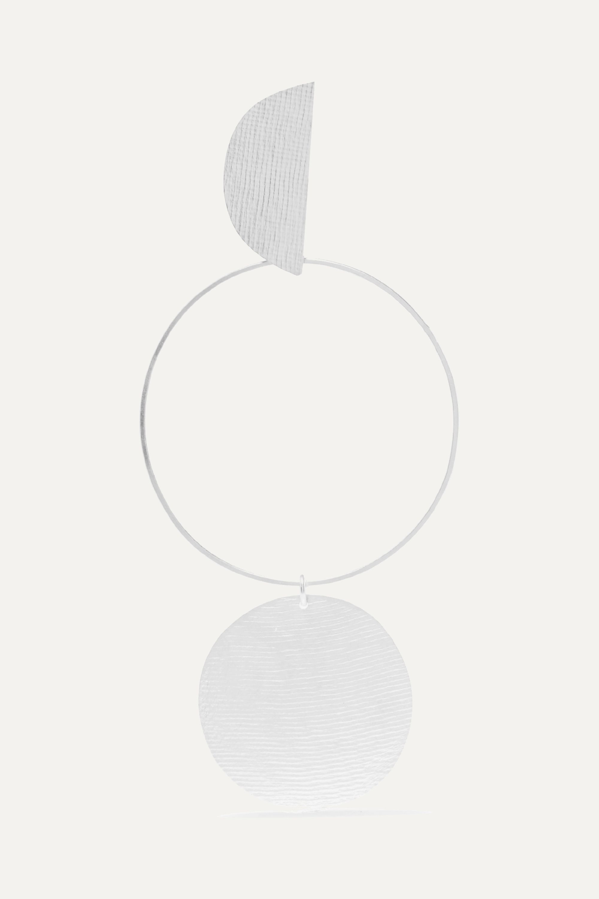 Annie Costello Brown Transit silver-tone earring