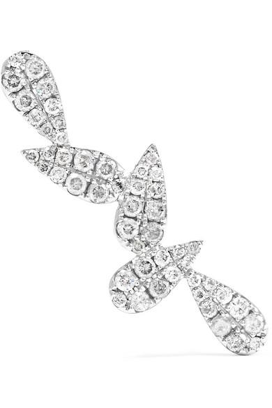 Yvonne Léon 18-karat White Gold Diamond Earring 2NFDK2ummP