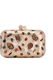 Cloud embellished metal clutch