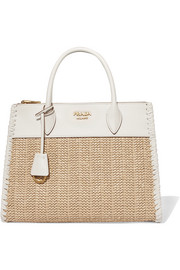 Paradigme medium raffia and leather tote