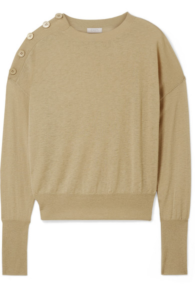 GROOM BUTTON-DETAILED CASHMERE SWEATER