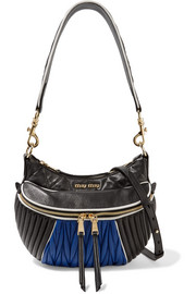 Miu Miu Quilted and matelassé leather shoulder bag