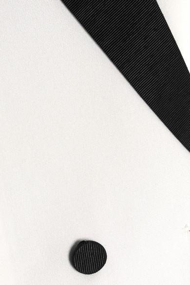 Fleur Du Mal Blazer aus Crêpe de Chine aus Seide mit Besatz aus Faille Limitierte Auflage Online-Verkauf Freie Versandrabatte Ausverkauf jwFGf6l