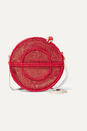 Nilsa woven raffia shoulder bag