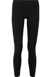 James Perse Ribbed stretch-knit leggings