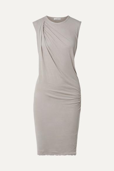 James Perse Nomad drapiertes Kleid aus Baumwoll-Jersey