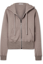 James Perse Cotton-blend terry hooded top
