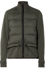 James Perse Quilted shell down and cotton-blend jacket