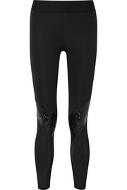 Cycling paneled stretch leggings