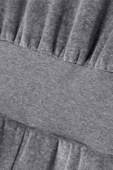 Heroine Sport Jumpsuit aus Velours mit Jersey-Besatz aus einer Baumwollmischung