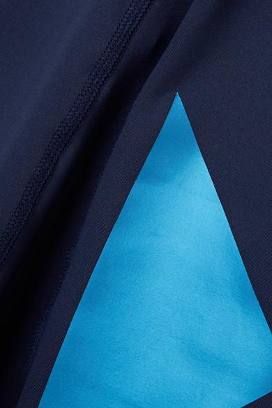 Heroine Sport Flex Leggings aus Stretch-Material mit Metallic-Einsätzen
