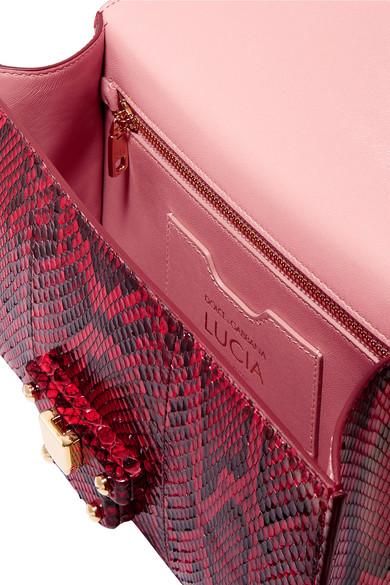 Dolce & Gabbana Lucia Schultertasche aus Pythonleder
