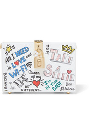 Dolce Box printed Perspex clutch
