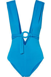 Studio Spray belted swimsuit