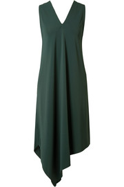 Eres Asymmetric stretch-crepe dress