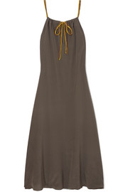 Ornella silk crepe de chine maxi dress