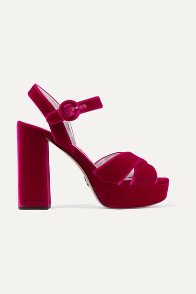 05fdcec70 Prada. Velvet platform sandals