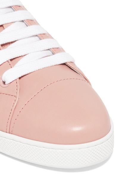 Prada Sneakers aus gestepptem Leder Visa-Zahlung Zum Verkauf mJKfSIcN