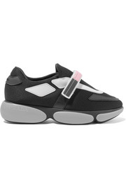 Prada Cloudbust rubber and leather-trimmed mesh sneakers