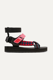 Prada Canvas, rubber and leather sandals